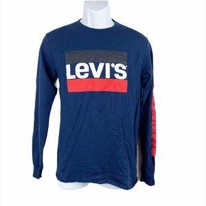 Levi's Men's Crew Pullover Long Sleeve Tee Shirt